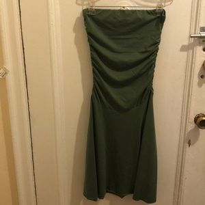 Green tube dress (excellent condition)